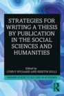 Strategies for Writing a Thesis by Publication in the Social Sciences and Humanities - eBook