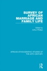 Survey of African Marriage and Family Life - eBook