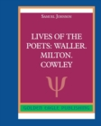 Lives of the Poets : Waller. Milton. Cowley - Book