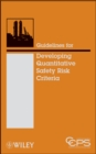 Guidelines for Developing Quantitative Safety Risk Criteria - Book