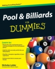 Pool and Billiards For Dummies - Book
