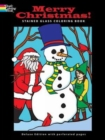 Merry Christmas! Stained Glass Coloring Book - Book