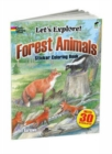 Forest Animals Sticker Coloring Book - Book