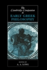 The Cambridge Companion to Early Greek Philosophy - Book