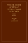 International Law Reports 160 Volume Hardback Set : Annual Digest of Public International Law Cases 1923-1924 Volume 2 - Book
