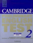 Cambridge Preliminary English Test 2 Teacher's book : Examination Papers from the University of Cambridge Examinations Syndicate - Book