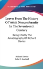 LEAVES FROM THE HISTORY OF WELSH NONCONF - Book