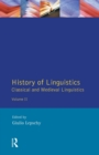 History of Linguistics Volume II : Classical and Medieval Linguistics - Book