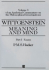Wittgenstein : Meaning and Mind, Volume 3 of an Analytical Commentary on the Philosophical Investigations, Part II: Exegesis 243-247 - Book