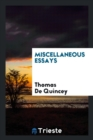 Miscellaneous Essays - Book
