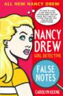 Nancy Drew:  False Notes - Book