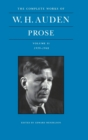 The Complete Works of W. H. Auden, Volume II : Prose: 1939-1948 - Book