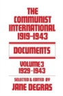 Communist International : Documents, 1919-1943 - Book