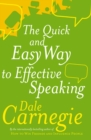 The Quick And Easy Way To Effective Speaking - Book