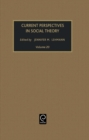 Current Perspectives in Social Theory - Book