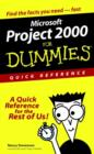 Project 2000 for Dummies Quick Reference - Book