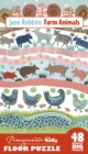 Jane Robbins Farm Animals Floor Puzzle - Book