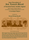 Some Descendants of Rev. Leonard Metcalf of Tatterford Parish, Norfolk, England - Book