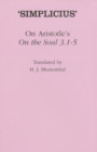 "On Aristotle's ""On the Soul 3.1-5"" - Book"