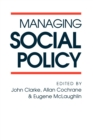 Managing Social Policy - Book