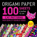 Origami Paper 100 sheets Cat Patterns 6 (15 cm) - Book