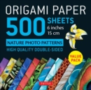 Origami Paper 500 sheets Nature Photo Patterns 6 (15 cm) - Book