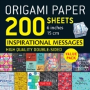 Origami Paper 200 sheets Inspirational Messages 6 inch (15 cm) - Book
