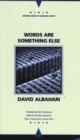 Words are Something Else - Book