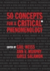 50 Concepts for a Critical Phenomenology - eBook