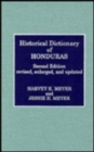 Historical Dictionary of Honduras - Book