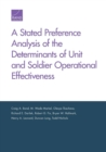 Stated Preference Analysis of the Determinants of Unit and Soldier Operational Effectiveness - Book