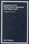 Document Forms for Official Orders of Appointment in the Mughal Empire - Book