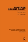 Essays on Housing Policy : The British Scene - eBook