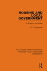 Housing and Local Government : In England and Wales - eBook