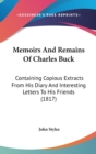 Memoirs And Remains Of Charles Buck : Containing Copious Extracts From His Diary And Interesting Letters To His Friends (1817) - Book