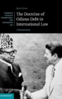 The Doctrine of Odious Debt in International Law : A Restatement - Book