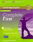 Complete First Student's Pack (Student's Book without Answers with CD-ROM, Workbook without Answers with Audio CD) - Book