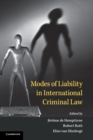 Modes of Liability in International Criminal Law - Book