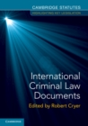 International Criminal Law Documents - Book