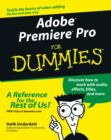 Adobe Premiere Pro For Dummies - eBook