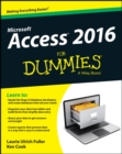 Access 2016 For Dummies - Book