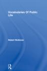 Vocabularies Of Public Life - eBook
