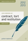 Core Statutes on Contract, Tort and Restitution - Book