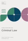 Core Statutes on Criminal Law 2015-16 - eBook