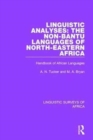 Linguistic Analyses: The Non-Bantu Languages of North-Eastern Africa : Handbook of African Languages - Book