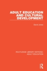 Adult Education and Cultural Development - Book