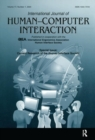 Current Research of the Human Interface Society : A Special Issue of the international Journal of Human-computer Interaction - Book