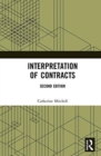 Interpretation of Contracts - Book