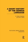 A Short History of the German Language - Book