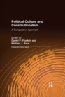 Political Culture and Constitutionalism: A Comparative Approach : A Comparative Approach - eBook